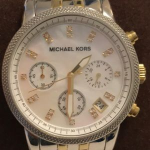 Michael Kors Two-Tone Stainless Steel Watch,